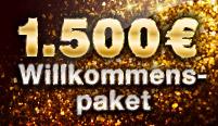 Willkommenspaket in Höhe von bis zu 1.500€ für ALLE Spiele