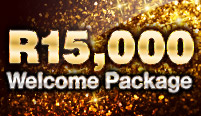 Welcome Package of up to R15,000 for ALL games